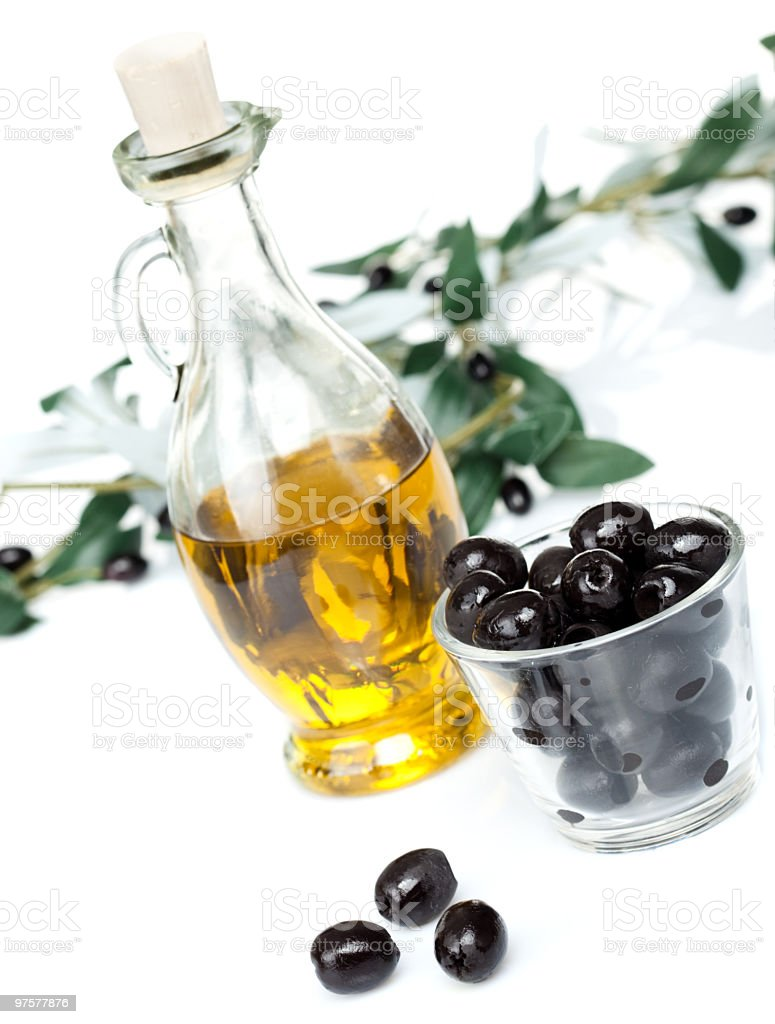 Delicious olive oil royalty-free stock photo