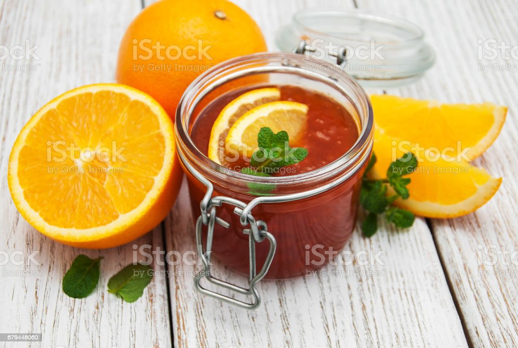 Delicious orange jam royalty-free stock photo