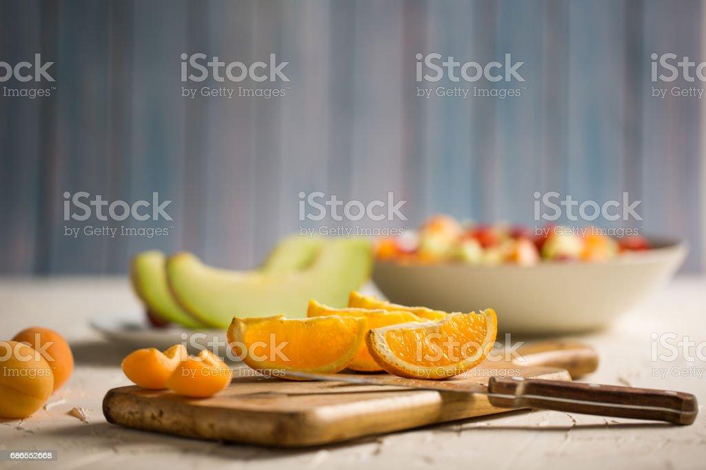 Läckra apelsinskivor royaltyfri bildbanksbilder