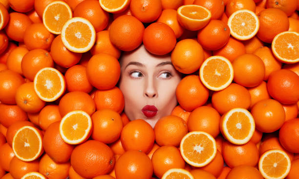 delicious oranges stock photo