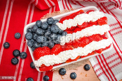 518726782 istock photo Delicious patriotic holiday / fourth of july 579158210