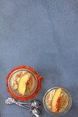 delicious peach ice cream