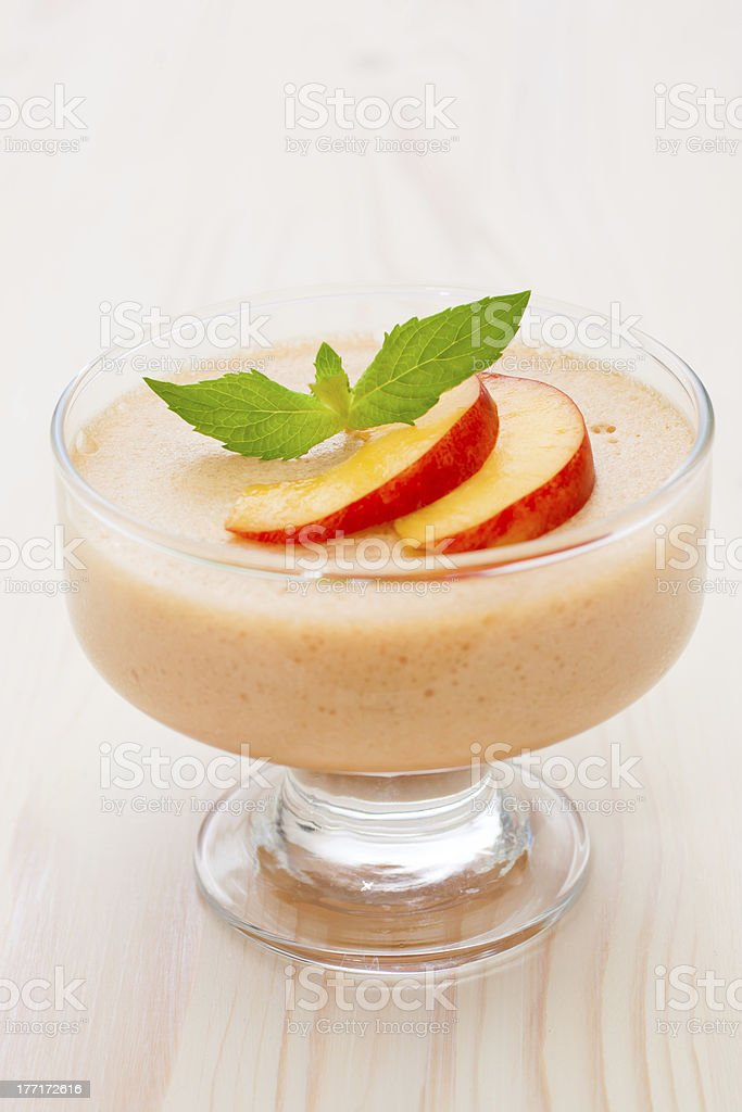 Delicious peach mousse royalty-free stock photo