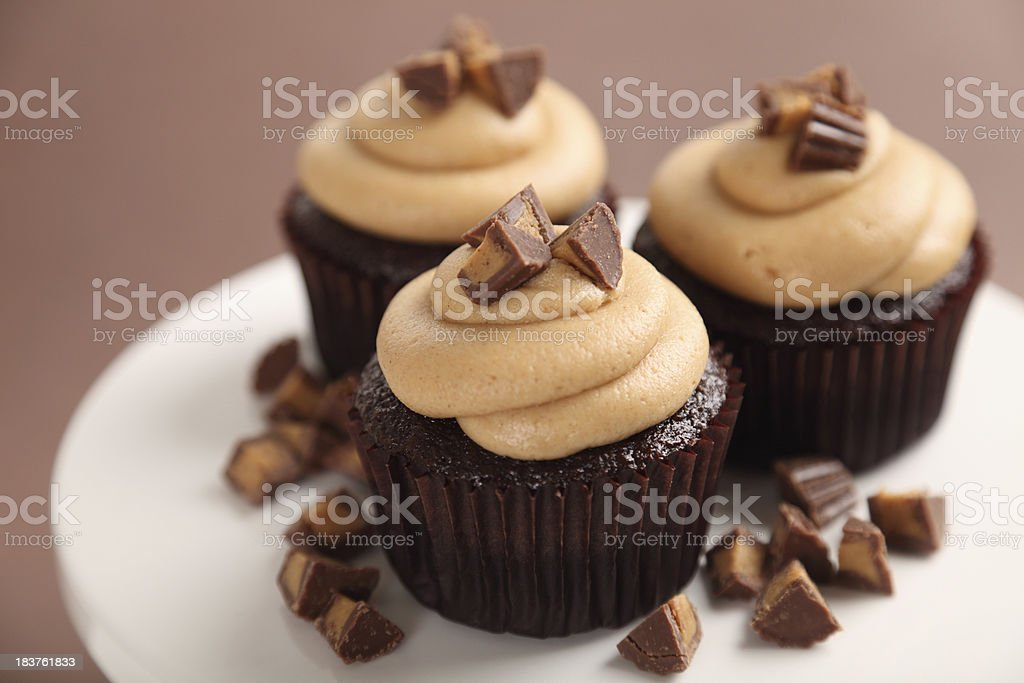 Delicious Peanut Butter Cupcakes royalty-free stock photo