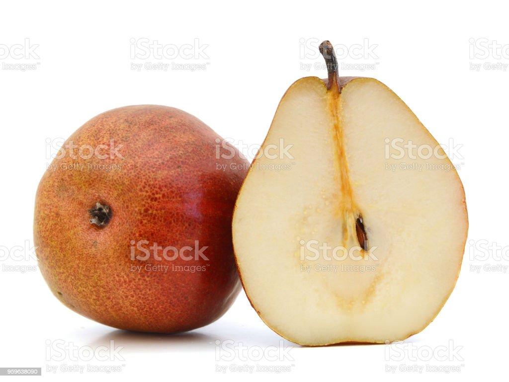 Deliciosas peras aislados en blanco - Foto de stock de Alimento libre de derechos