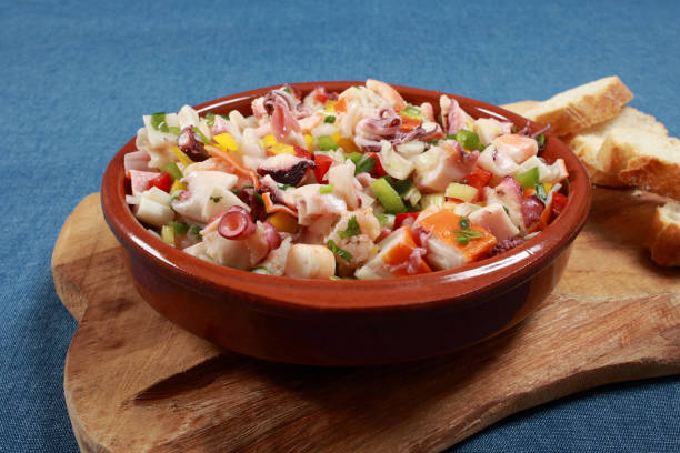 Delicious Peruvian Seafood Ceviche (Seviche) Dish Delicious Peruvian Seafood Ceviche (Seviche) Dish mollusk stock pictures, royalty-free photos & images