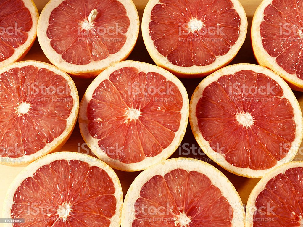 Delicious pink grapefruit stock photo