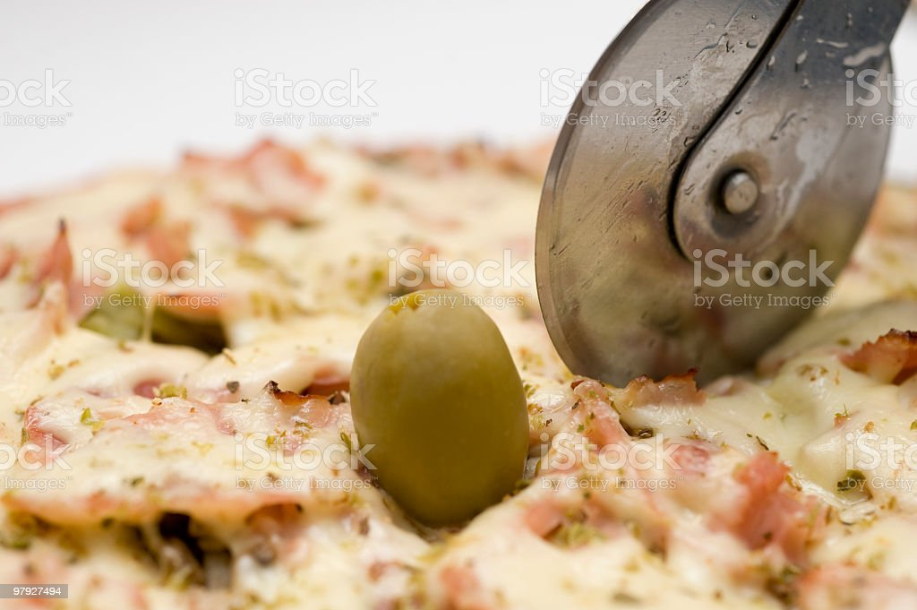 Delicious pizza royalty-free stock photo
