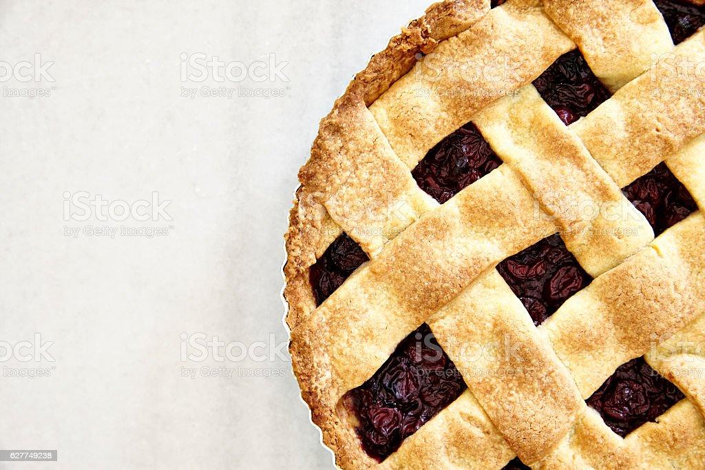Delicious Plum Pie stock photo