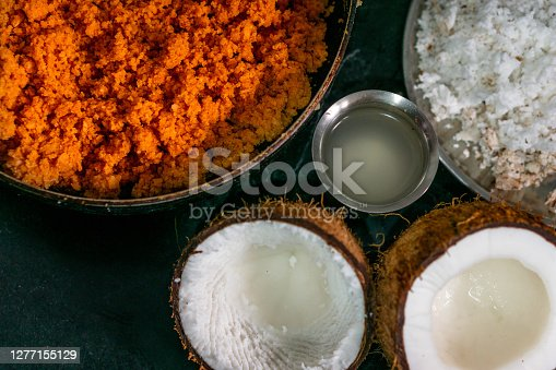 A delicious breakfast cooked with poha with other ingredients like coconut and peanuts