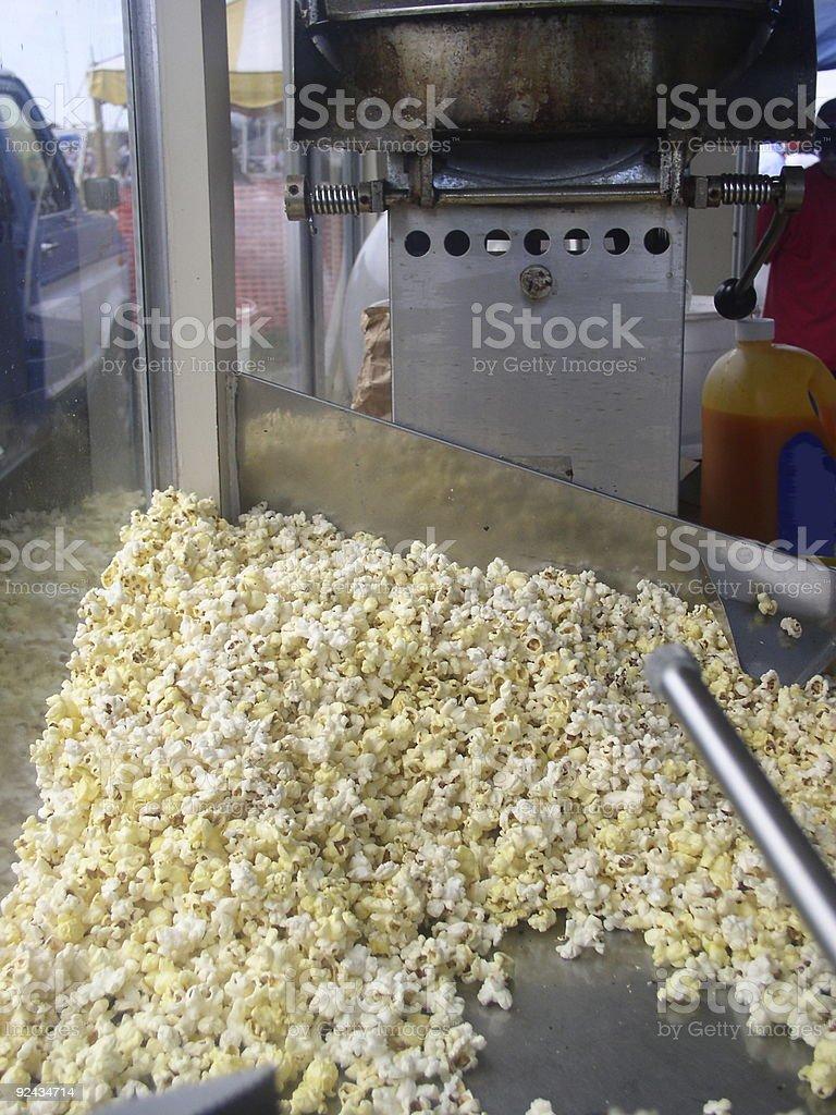 Delicious Popcorn at the popcorn wagon stock photo