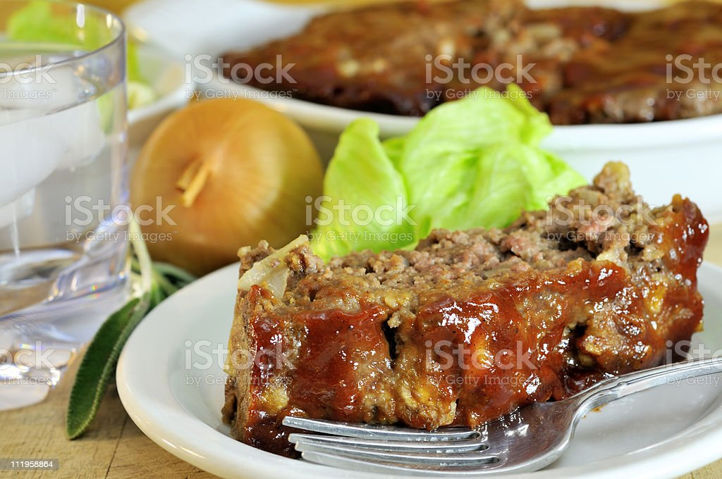 Delicious Sage Meatloaf royalty-free stock photo