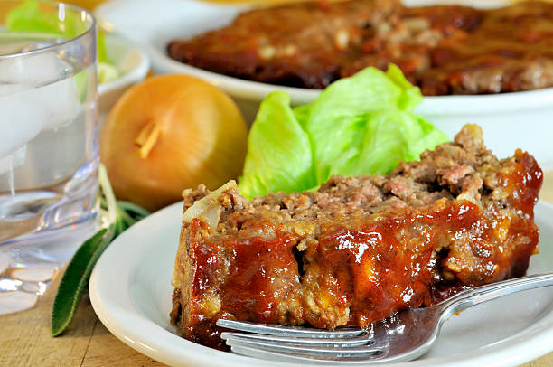 Delicious Sage Meatloaf stock photo