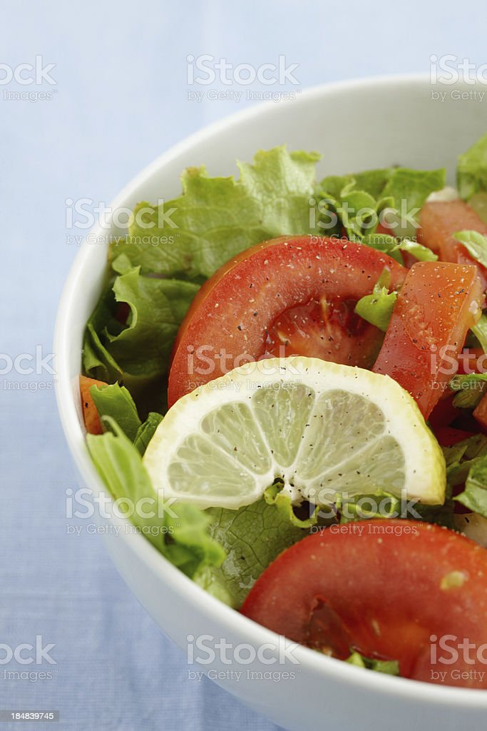 Delicious salad in a bowl royalty-free stock photo