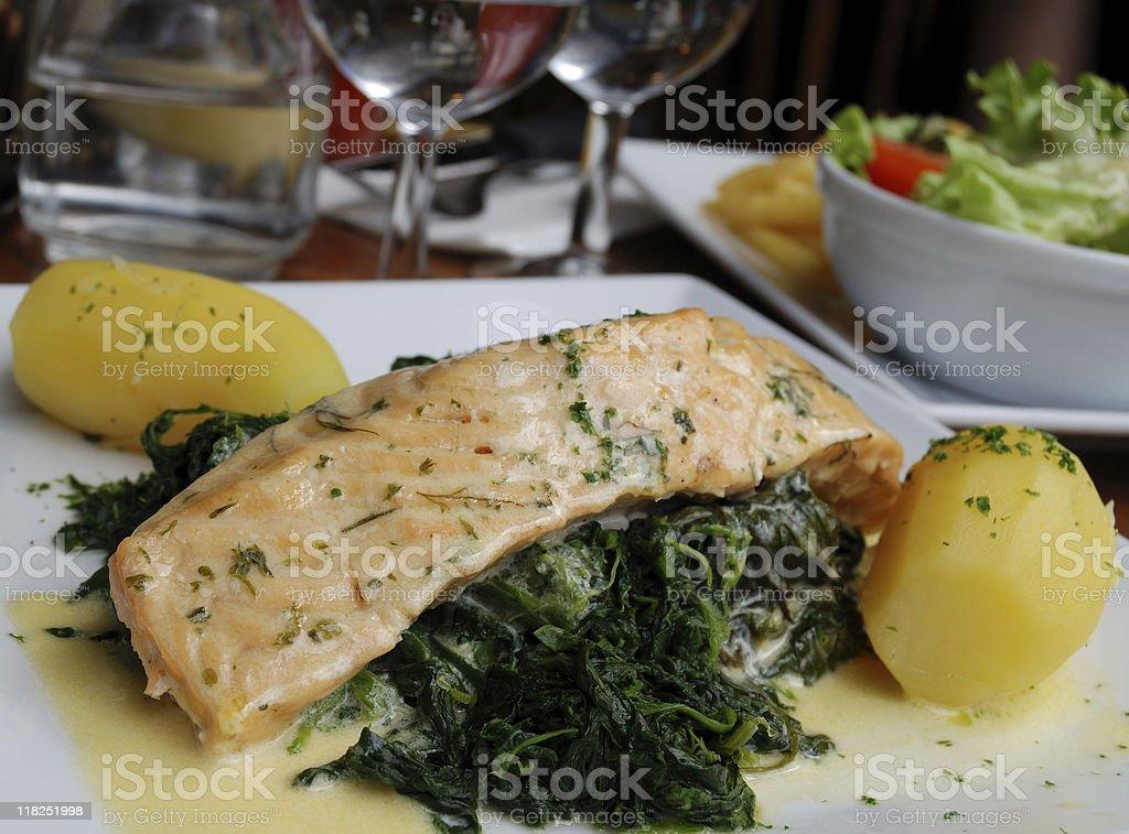 Delicious salmon royalty-free stock photo