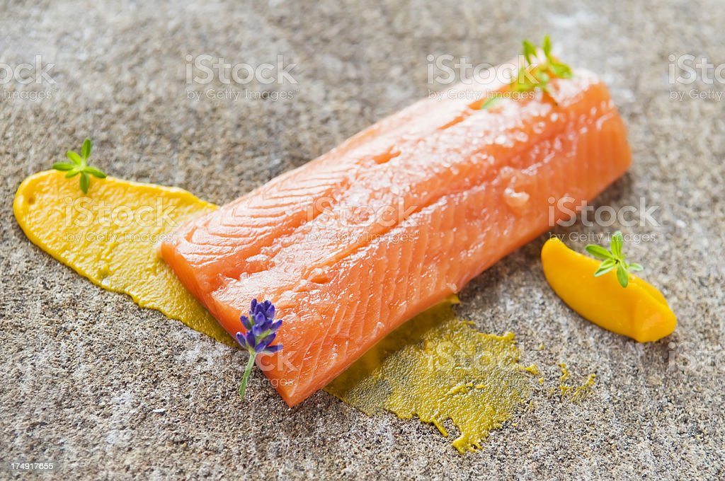 Delicious salmon royalty-free stock photo
