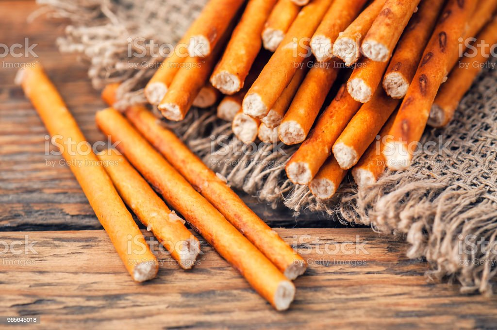 delicious salted sticks stock photo