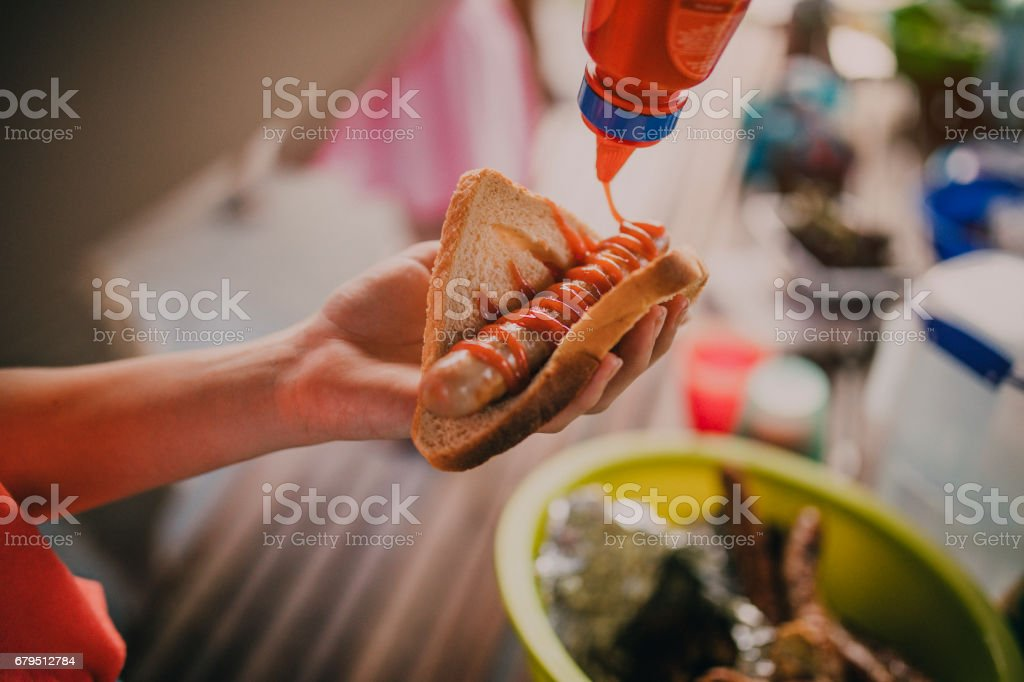 Delicious Sausage Sizzle stock photo