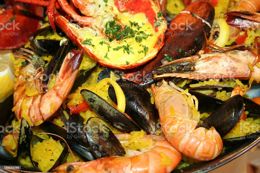 Delicious seafood stock photo