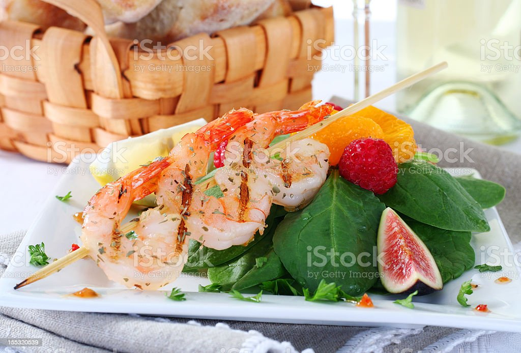 delicious shrimps royalty-free stock photo