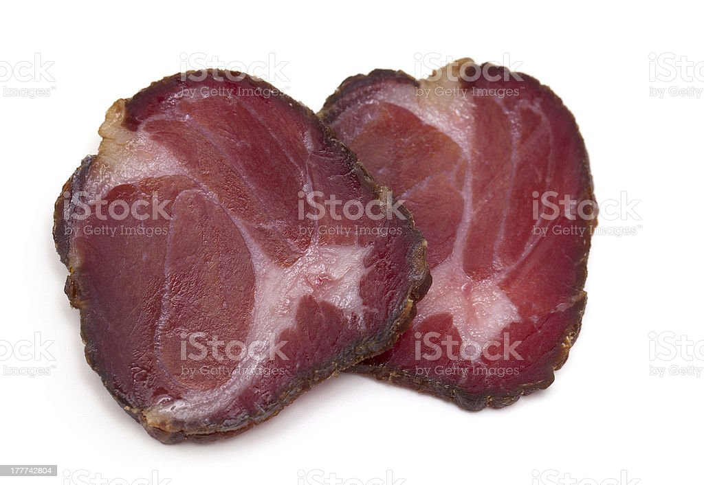 delicious smoked meat royalty-free stock photo