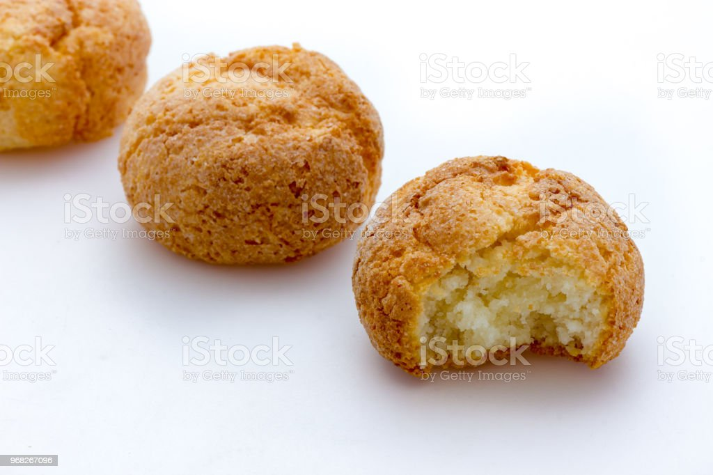 Delicious soft Amaretti from Italy stock photo