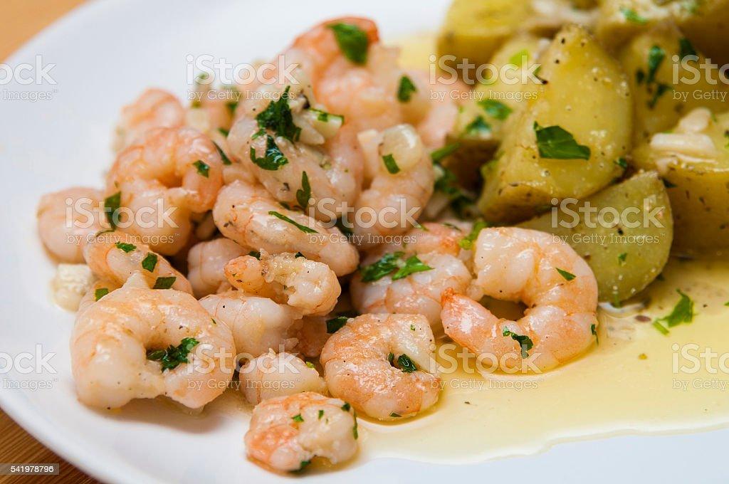 Delicious spanish tapa stock photo