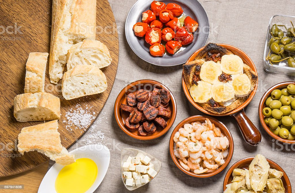 Delicious Spanish Tapas Food foto royalty-free