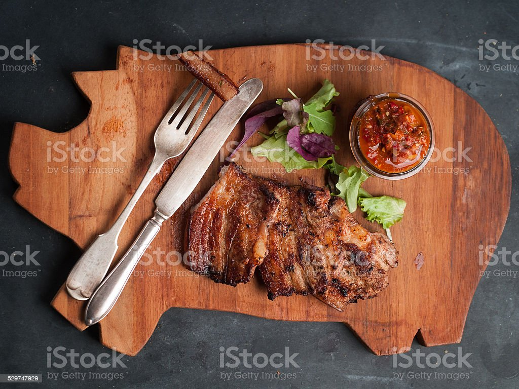 Delicious steak stock photo