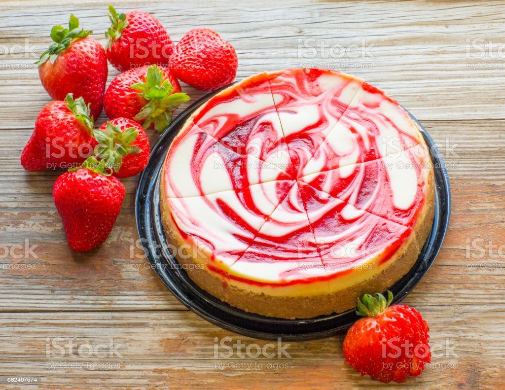 Delicious Strawberry Cheesecake foto de stock libre de derechos