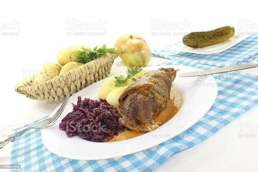 Delicioso pãozinho recheado com carne bovina - foto de acervo