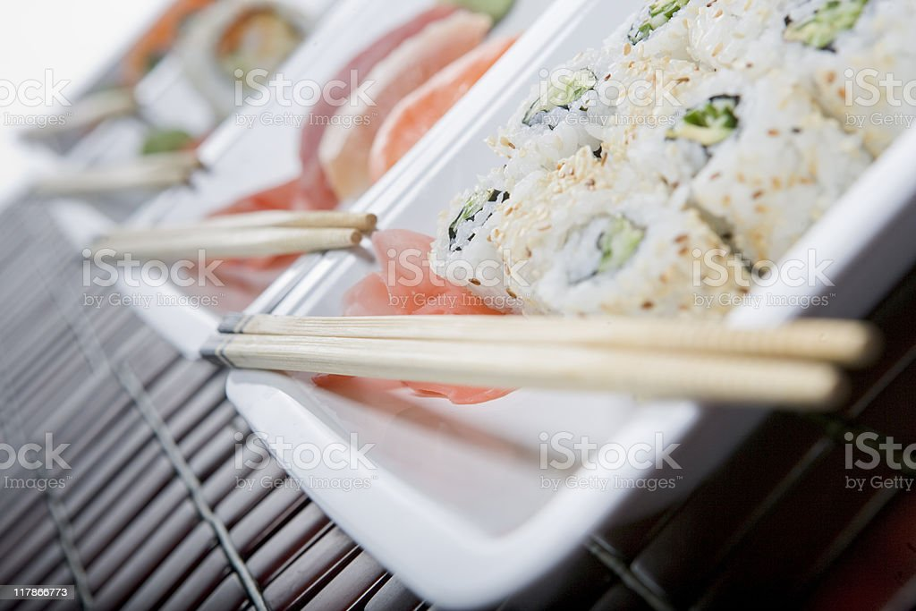 Delicious Sushi lunch royalty-free stock photo