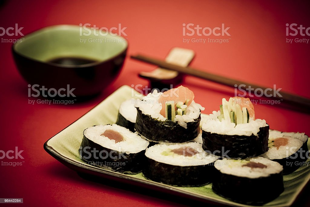 Delicious sushi royalty-free stock photo
