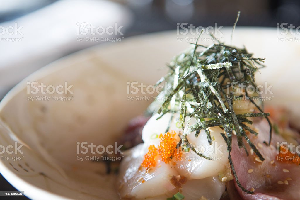 Delicious sushi plate stock photo