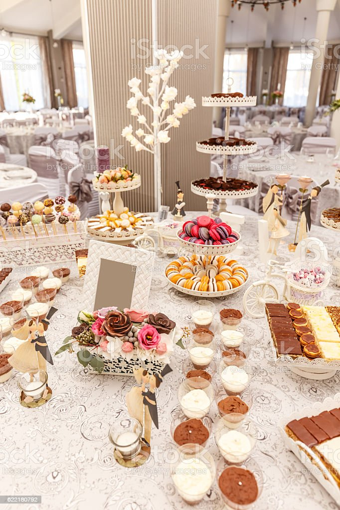 Delicious sweet buffet stock photo