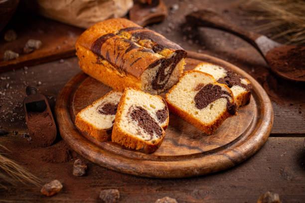 Delicious sweet cake bread stock photo