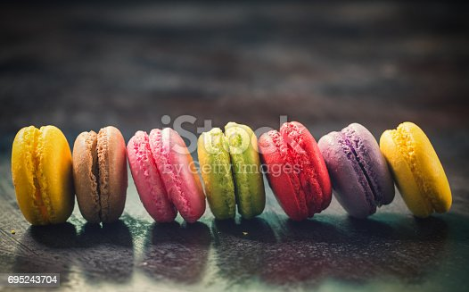 istock Delicious Sweet Colorful Macarons 695243704