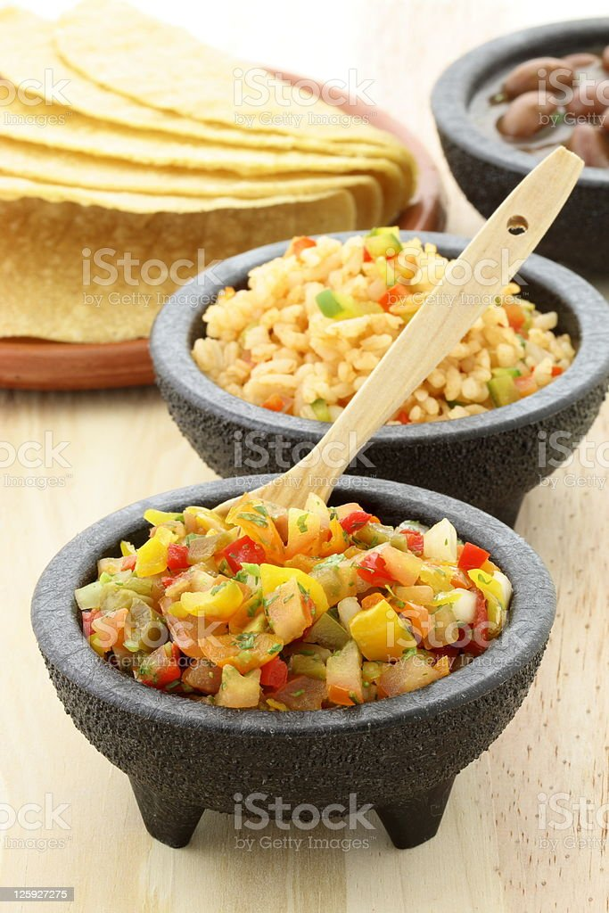 delicious taco ingredients royalty-free stock photo