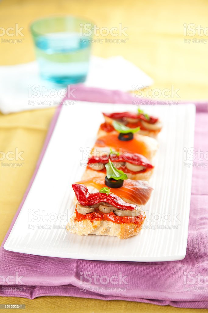 delicious tapas spanish food cousine culture isolated royalty-free stock photo