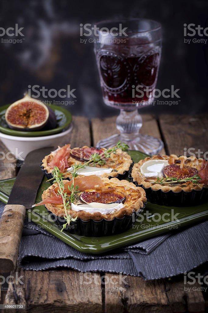 delicious tart with figs stock photo