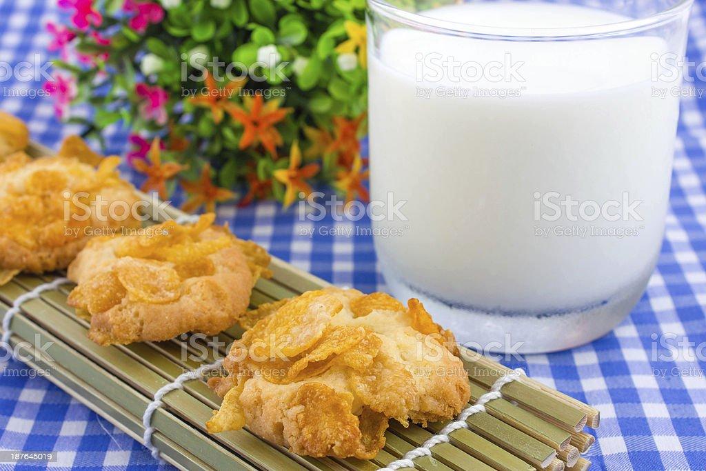 Delicious tasty cookies stock photo
