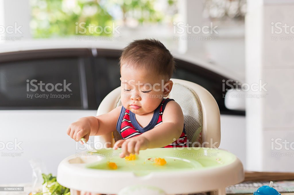 delicious time for baby stock photo