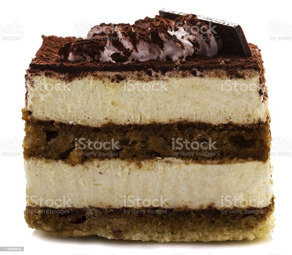 Delicious tiramisu dessert with cacao powder on top royalty-free stock photo