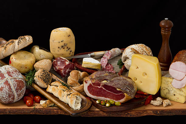 Delicious typical argentinean antipasto stock photo