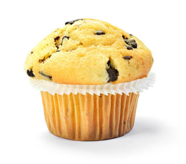 köstliche vanille muffin mit schokolade - vanille muffins stock-fotos und bilder