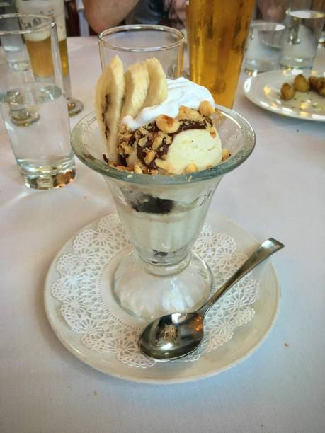 A delicious vegan dessert. stock photo