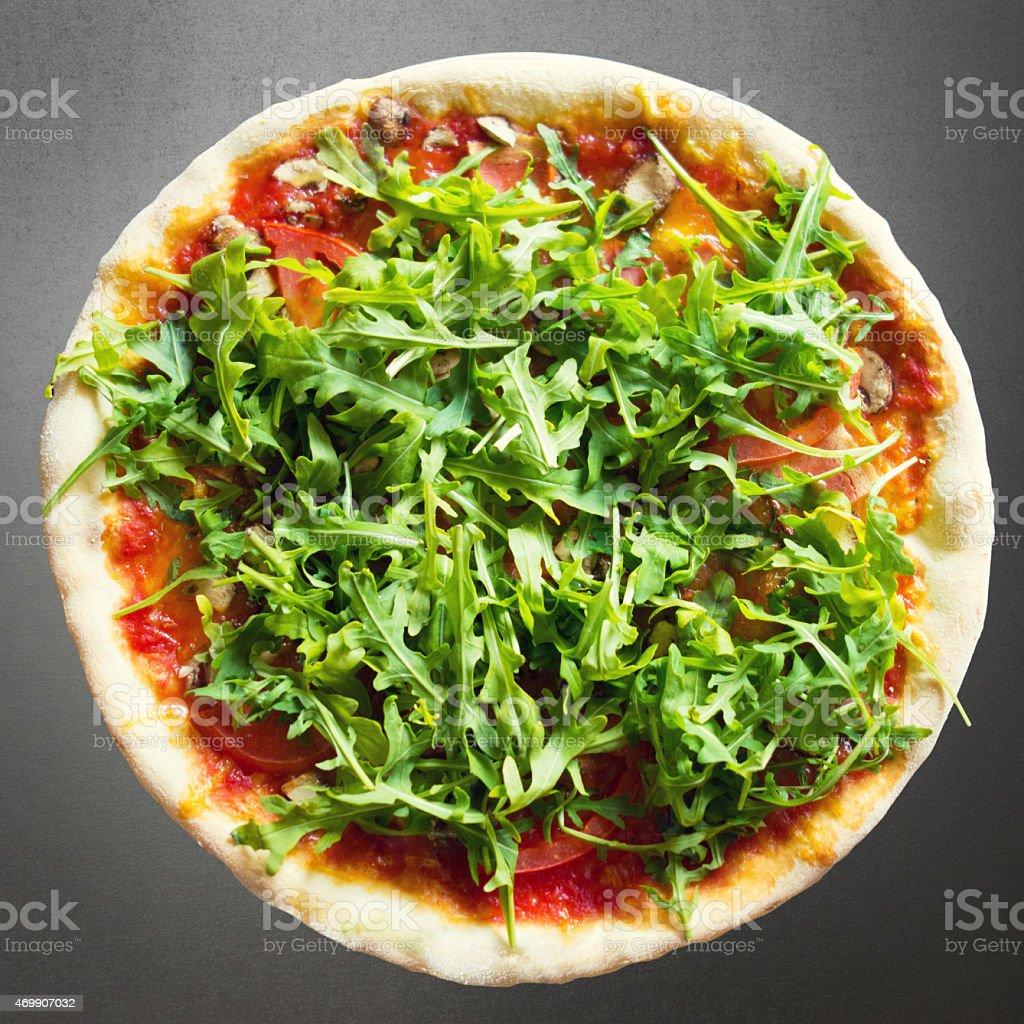 Delicious vegan italian pizza stock photo
