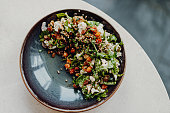 istock Delicious Vegan, Organic Cauliflower Bowl with Parsley and Chickpeas 1268477907