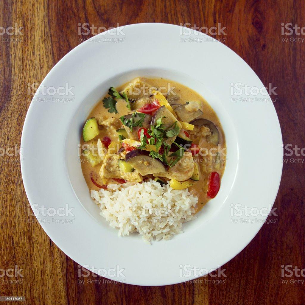 Delicious vegan thai curry stock photo