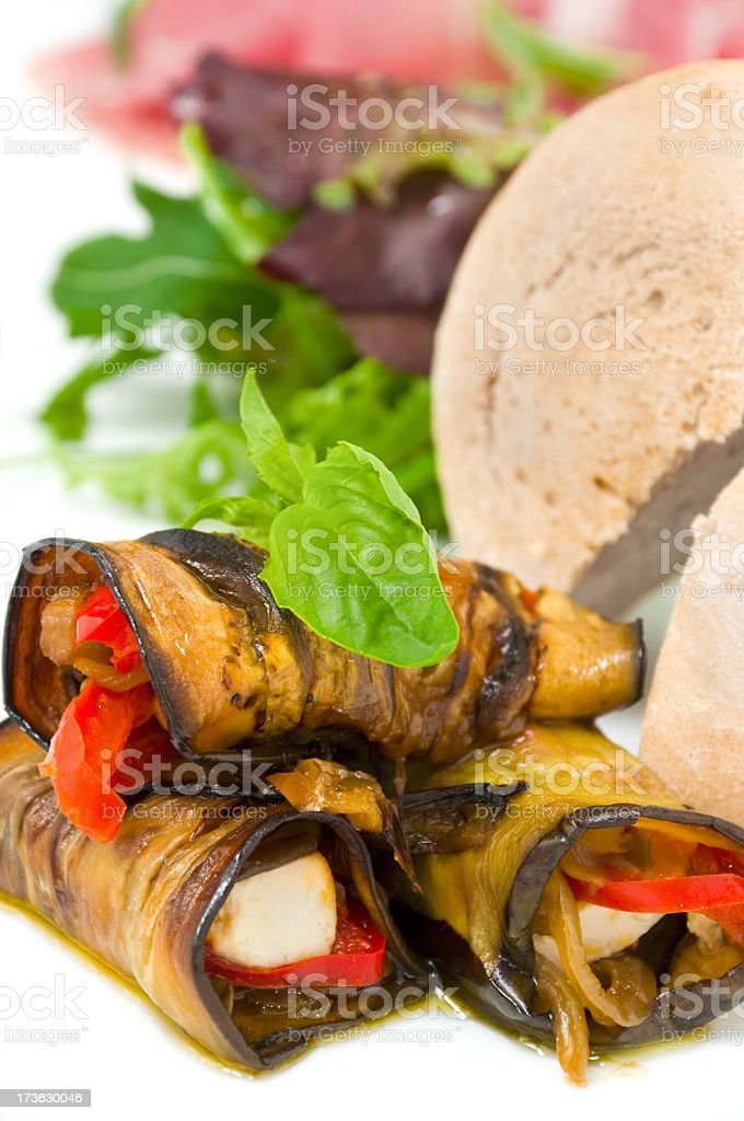 Delicious vegetable rolls royalty-free stock photo